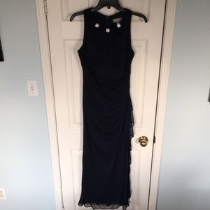 Navy Laura Petites formal gown